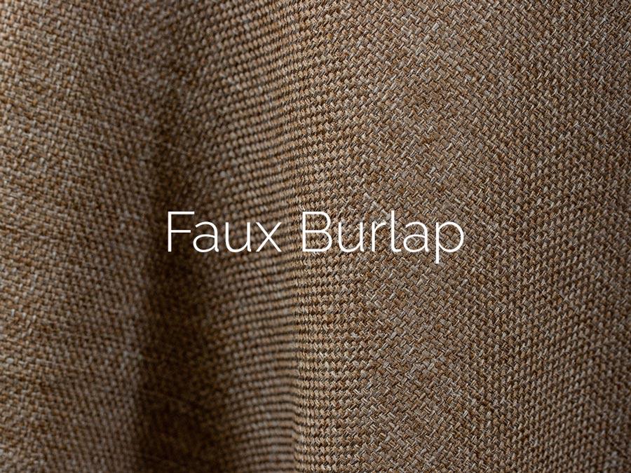 Faux Burlap